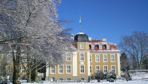 Neues Schloss in the winter